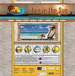 Fun In The Sun Beach Rentals Custom Website designed by RGC Media