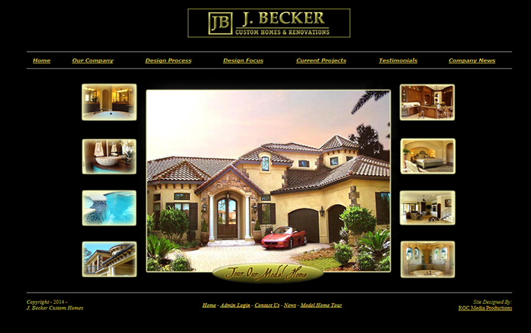 Custom designed website created by RGC Media, Inc.